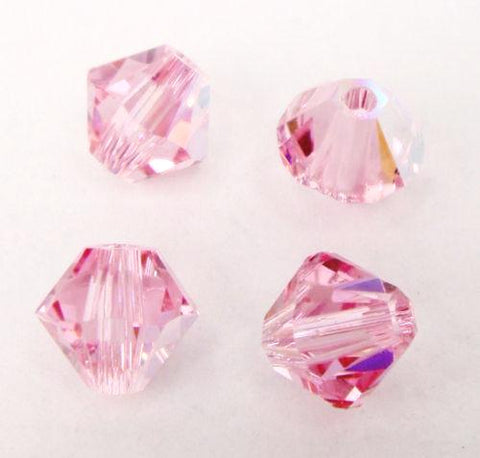 Swarovski 5301 Light Rose AB Beads