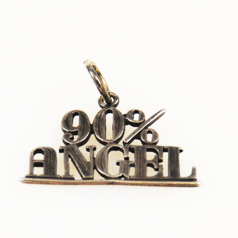 90% Angel Sterling Silver Vintage Charm