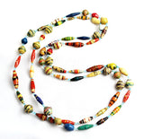 Necklace of African Paper Beads Mix