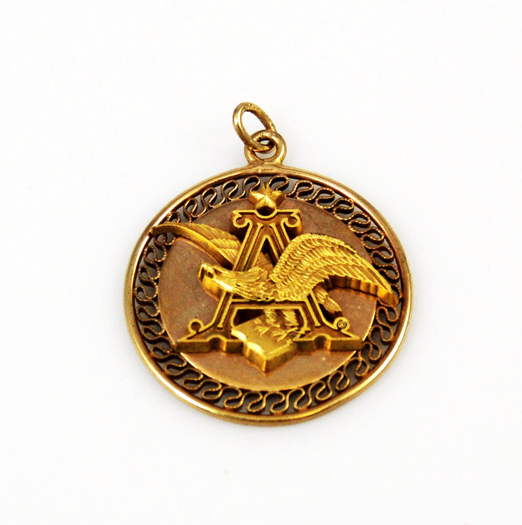 Anheuser Busch Logo Gold Filled Pendant Estatebeads