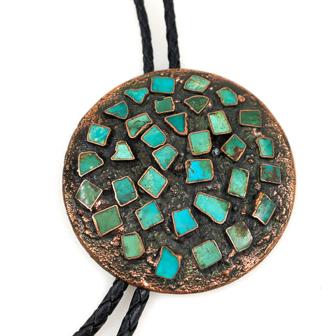 Bell Trading Turquoise & Copper Corinthian Bolo Tie