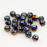 Porcelain Enamel Blue 10mm Round Beads