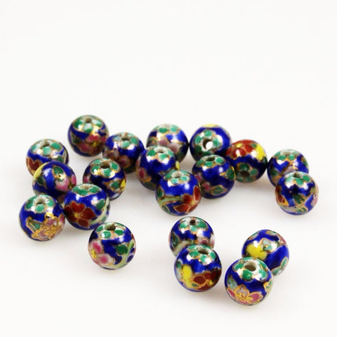Porcelain Enamel Blue 10mm Beads