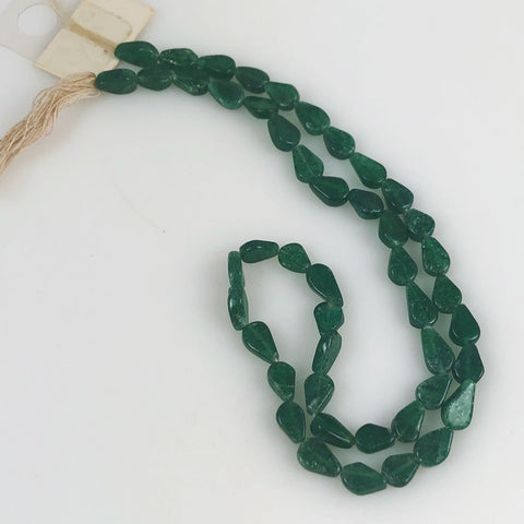 green emerald teardrop beads
