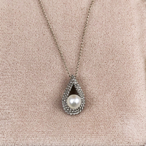 Cultured Pearl 14K White Gold Necklace