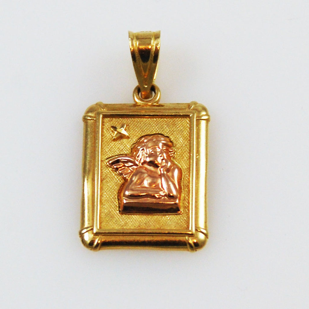 Guardian Angel Pendant 14K Gold