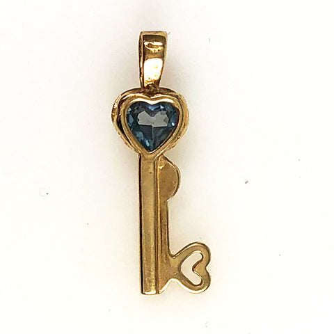 Gold Key to Your Heart Charm 10K