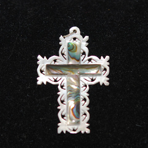 Mother of Pearl and Abalone Cross - Bethlehem