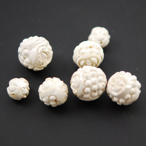 Meerschaum Carved Beads Rare