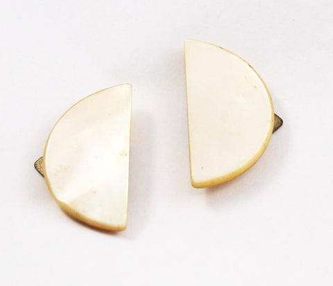 Antique Mother of Pearl Shoe Clips