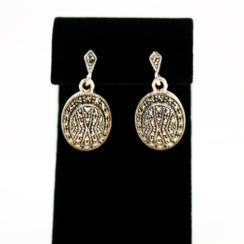 Sterling Marcasite Earrings Vintage