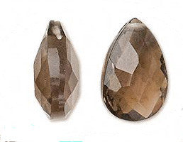 Smoky Quartz Briolette Pendants