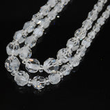 Swarovski Model 28 White Givre Graduated strands