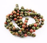 Unakite Round Gemstone Beads 10mm