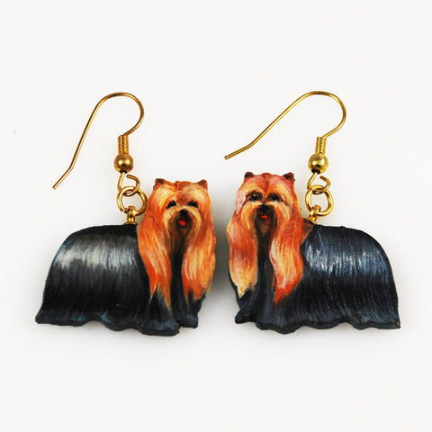 Yorkshire Terrier Painted Earrings