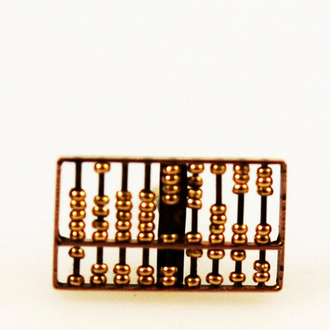 Abacus 14K Gold Lapel Pin or Tie Tack