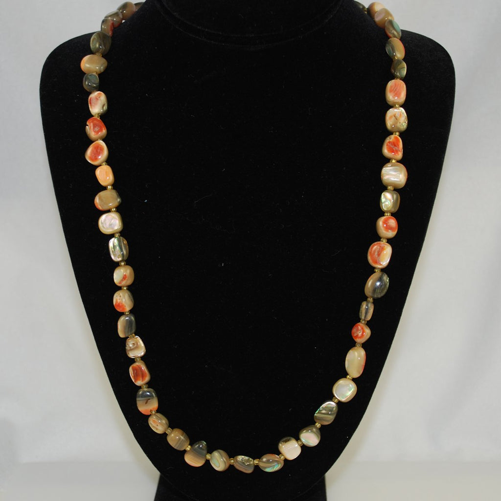 Abalone Shell Necklace Vintage