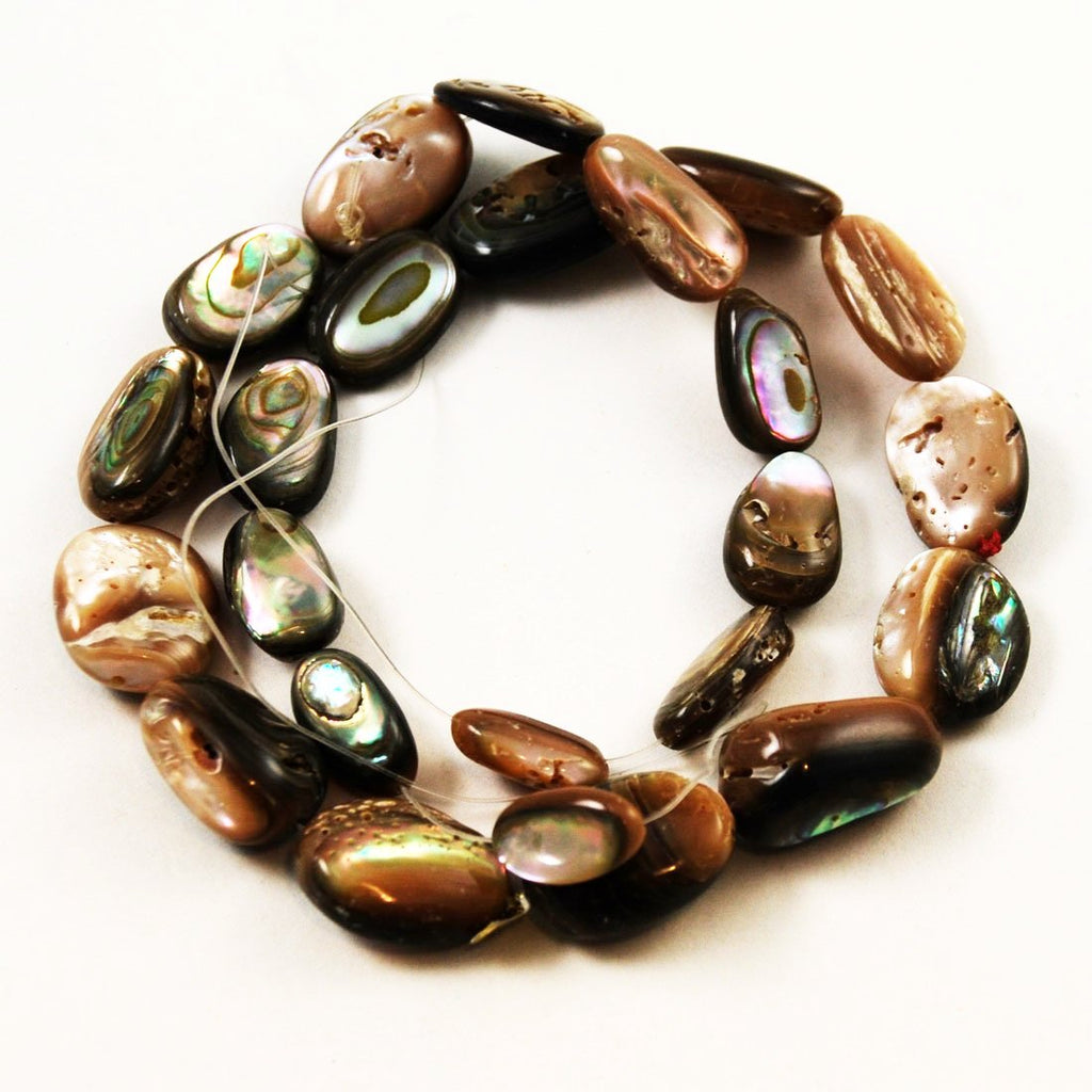 Abalone Shell Oval Beads Strand