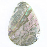 Abalone Shell Crackled Teardrop Pendant