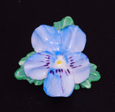 Royal Adderley Floral Pansy China Brooch Made In England