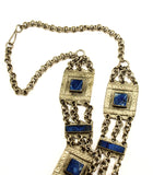Afghan Silver and Lapis Ethnic Necklace Clasp
