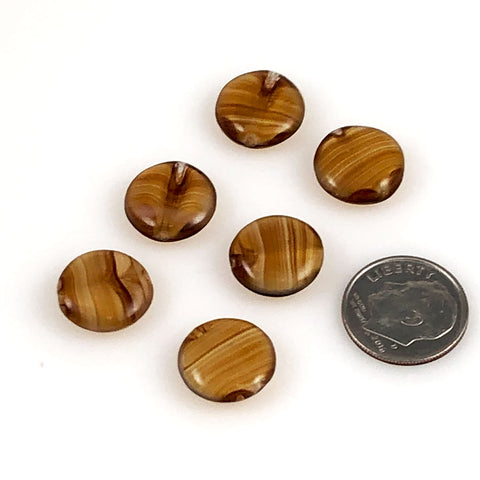 Brown Agate Glass Beads