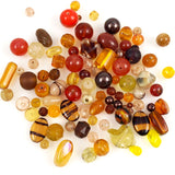 Vintage glass bead mixture browns