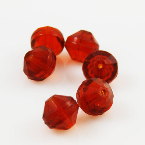Faceted Bohemian Amber Beads - Antique