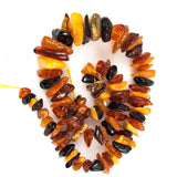 Amber chip beads