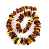 Amber Nugget Beads Mixed Colors