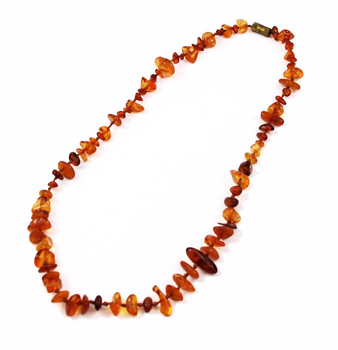 Honey Amber Chip Necklace Vintage