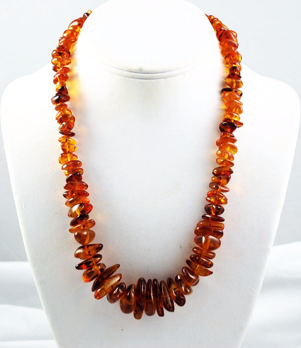 Chunky Baltic Cognac Amber Necklace Vintage