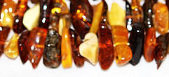 Mixed Color Amber Nugget Beads