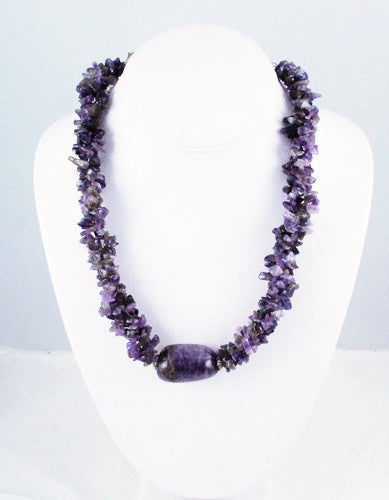 Amethyst Beaded Necklace