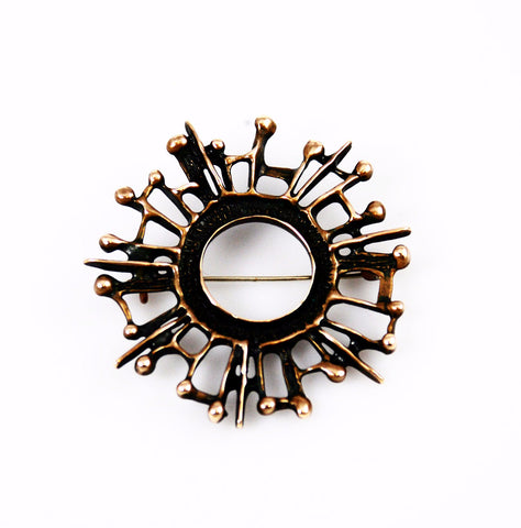 Uni David Andersen Bronze Brooch designed by Unn Tangerud
