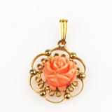 Angel Skin Coral Gold Filled Pendant by Sorrento