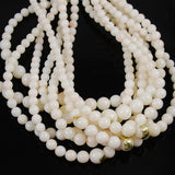 Angel Skin Coral Graduated Bead Strands