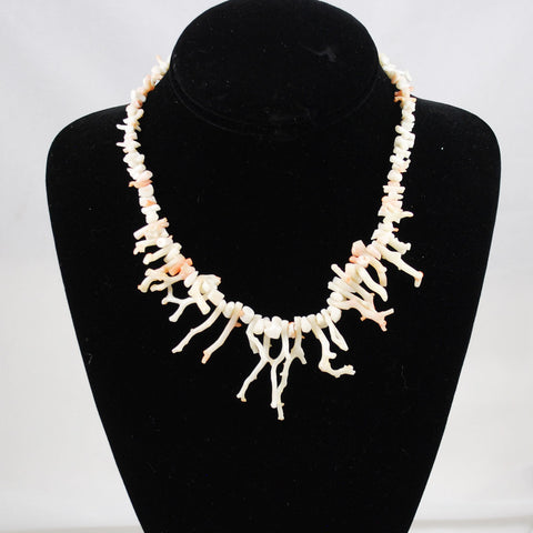 Angel Skin Branch Coral Necklace