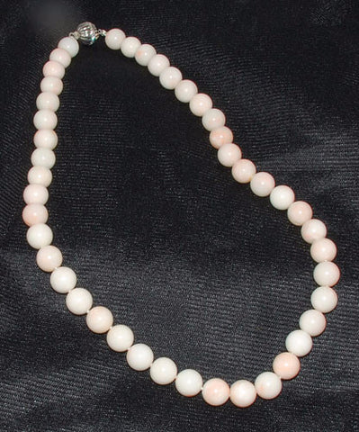 Angel Skin Coral Necklace 9.5mm