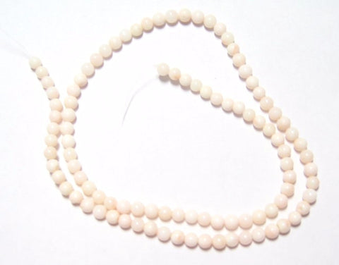 Light Pink Angel Skin Coral Round Bead Strands