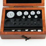 Apothecary Weight Set in Wood Box Vintage