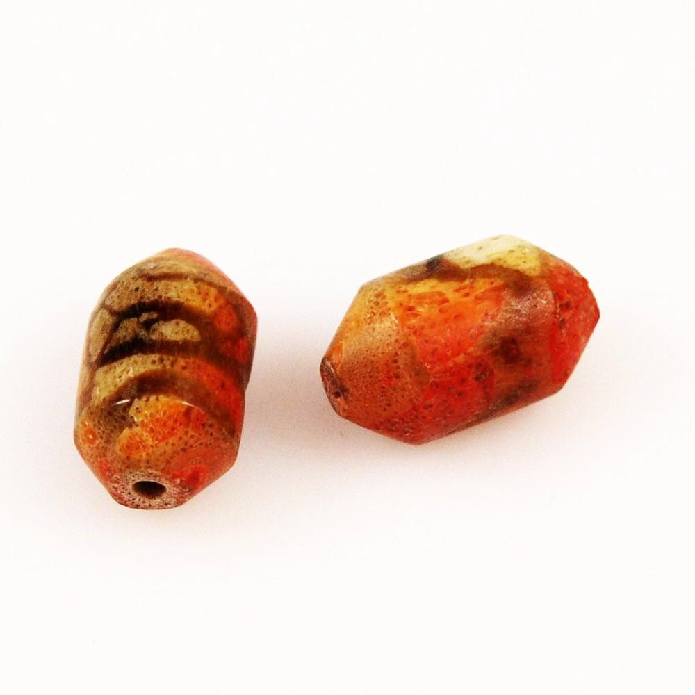 Genuine Apple Coral Bullet Beads Rare Coral