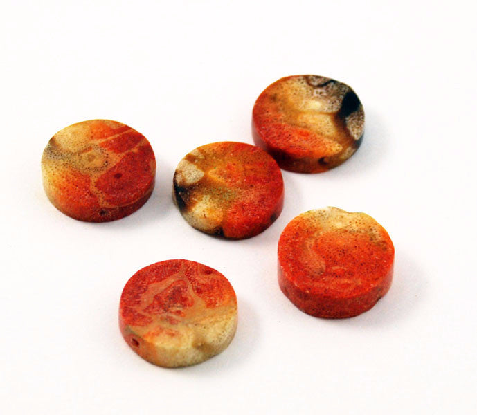 Genuine Apple Coral Coin Beads Rare Coral