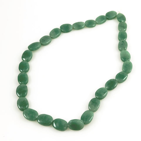 Green Aventurine Oval Beads