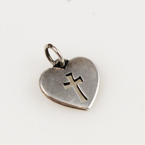 James Avery Sterling Crosslet Heart Charm
