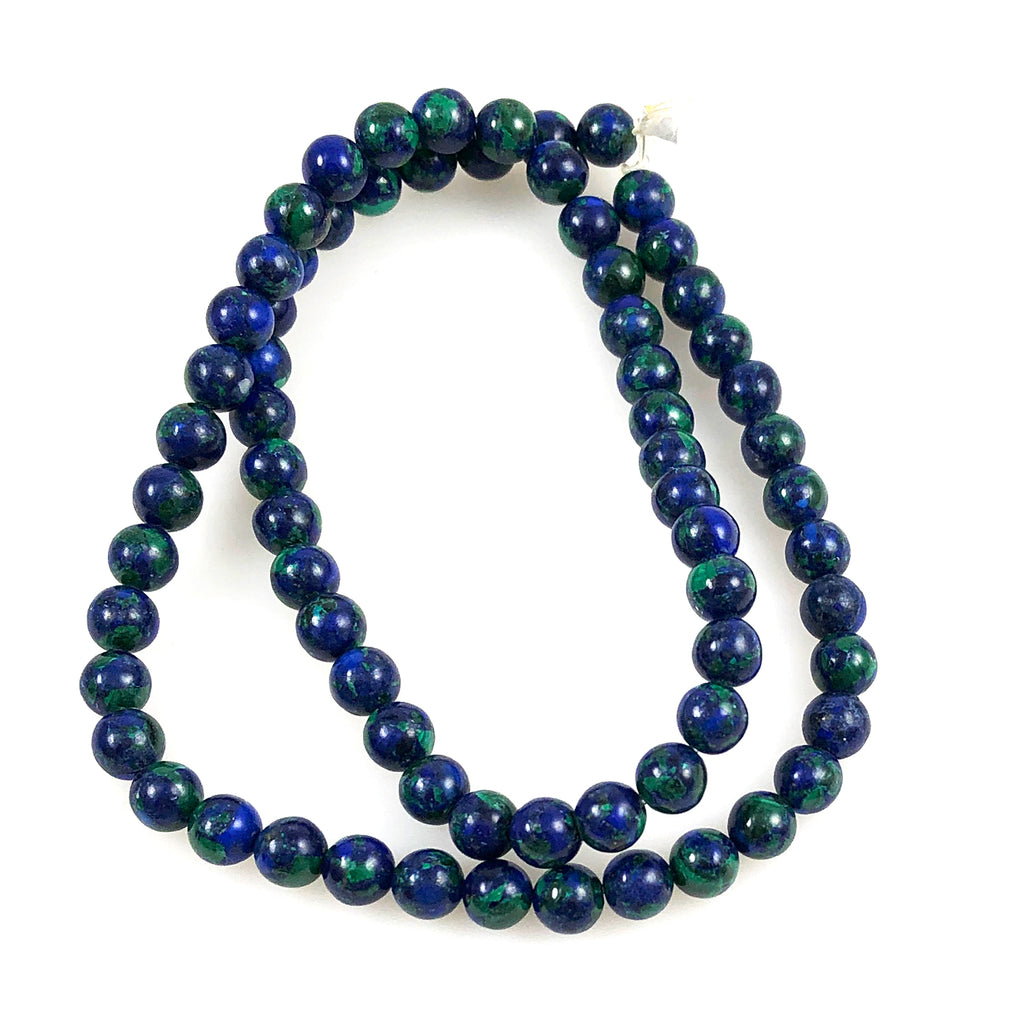 Azurite-Malachite Round Beads