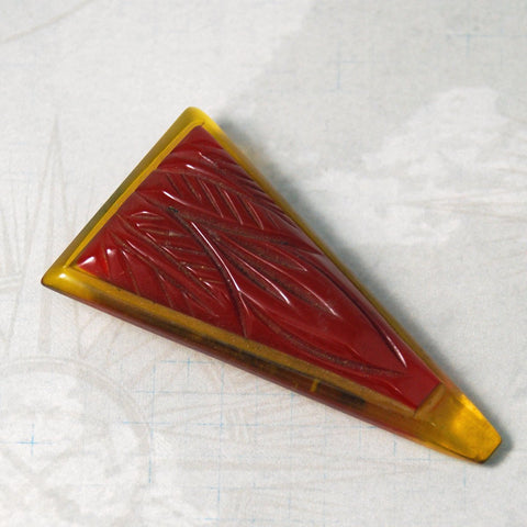 Art Deco Red Bakelite Dress Clip