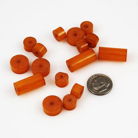 Butterscotch Bakelite Tube Beads