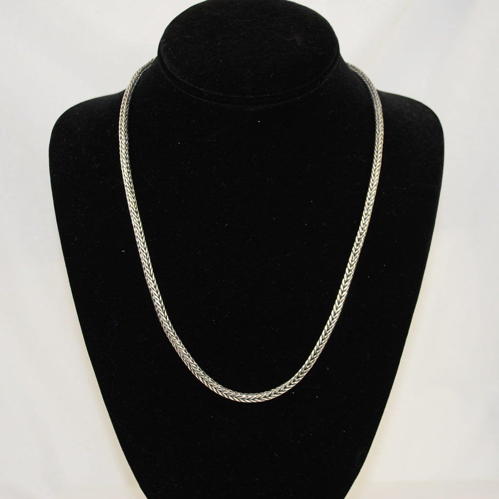 Sterling Silver Wheat Chain Bali Unisex