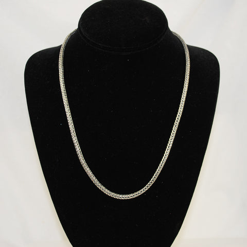 Sterling Silver Wheat Chain Unisex